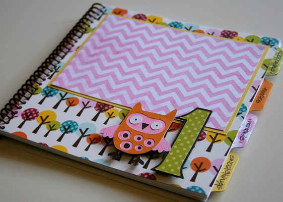 First Birthday Girl/Birthday Album Photo Book and Journal - PENELOPE Design
