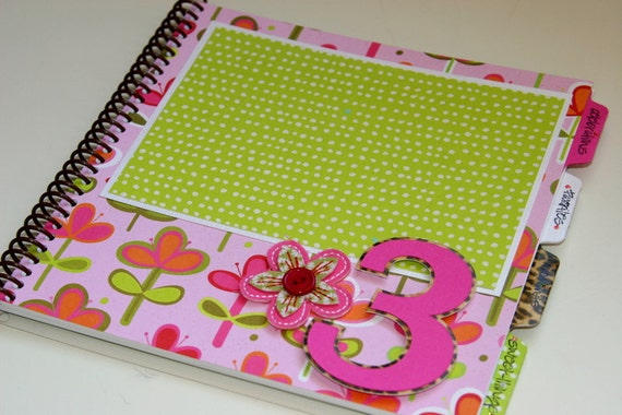Baby Book Girl/Birthday Album Photo Book and Journal - LILY Design