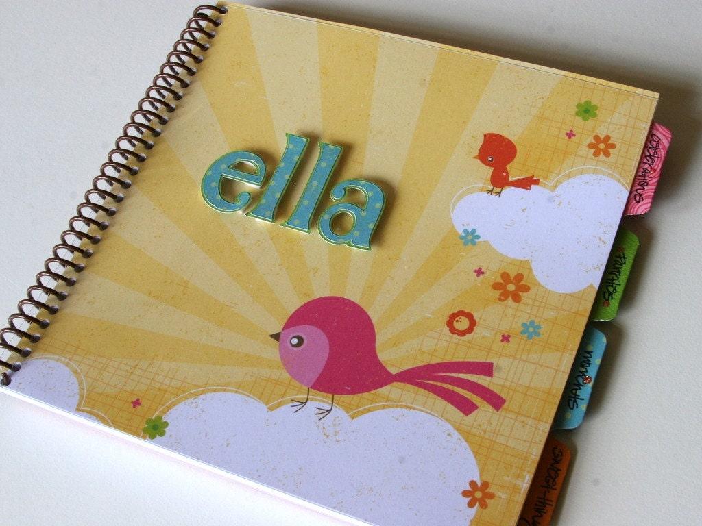 Baby Memory Book Girl/Baby Album Photo Book and Journal ELLA