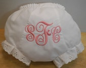 Baby Girl or Boy Monogrammed Diaper Cover or Boxers Personalized Bloomers