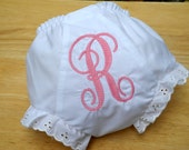 Personalized Initial Diaper Cover Embroidered Bloomers Baby Shower Gift Monogrammed Baby Panties