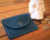 NZFINCH Coin Purse, blue leather