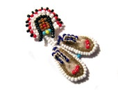 Beaded Moccasin Pin 1940s Native American
