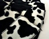 Swiffer Sweeper Fleece Pads- Set of 2- Reusable- Cow