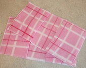 Swiffer Sweeper Fleece Pads- Set of 2- Reusable- Pink Plaid