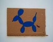 HOUSETRAINED MINI, acrylic on cardboard