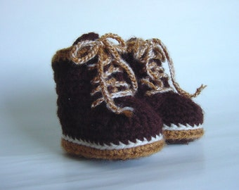 Tiny Timbs Baby Booties, Timberland Boots Inspired, Size S