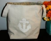 REDUCED PRICE Large Nautical Canvas Tote