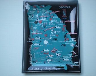 Vintage Souvenir Plate of Georgia