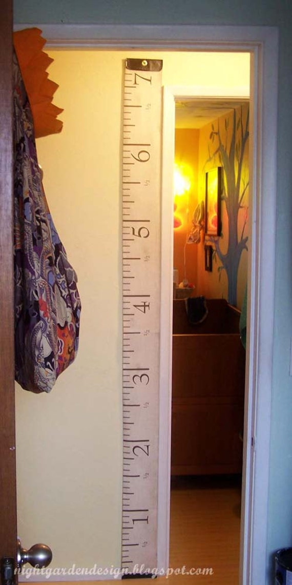 Antique-Style Measuring Tape Fabric for Height / Growth Charts, Curtain Panels, etc.