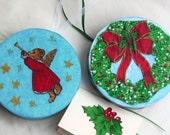 Christmas ornament gift box