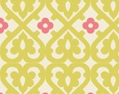 Indian Summer Green Damask by Zoe Pearn for Riley Blake, 1/2 yard