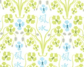 Sanctuary Orchid Feng Shui Seafoam by Patty Young for Michael Miller, 1 yard