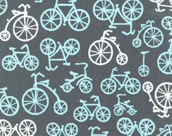 Baby Bicycles Gray for Michael Miller, 1/2 yard