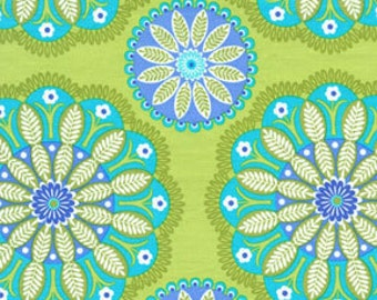 Gypsy Bandana Kaleidescope Kiwi by Pillow and Maxfield for Michael Miller, 1/2 yard