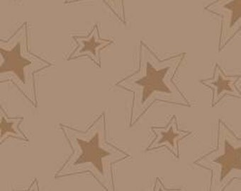Fox Trails Brown Stars by Doohikey Designs for Riley Blake, 1/2 yard