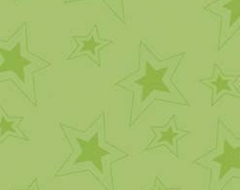 Fox Trails Green Stars by Doohikey Designs for Riley Blake, 1/2 yard