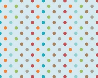 Fox Trails Blue Dots by Doohikey Designs for Riley Blake, 1/2 yard