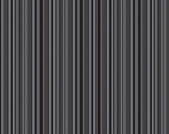 Tuxedo Collection Black Stripe by Doodlebug Designs Inc for Riley Blake, 1/2 yard