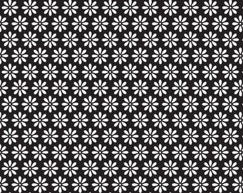 Tuxedo Collection Black Daisy by Doodlebug Designs Inc for Riley Blake, 1/2 yard