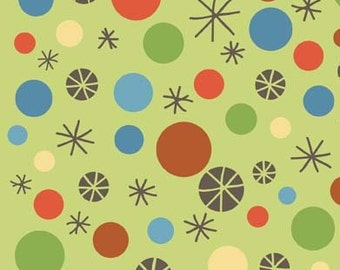 Scoot Green Scoot Dots by Deena Rutter for Riley Blake, 1/2 yard