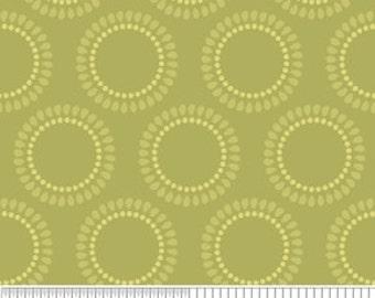 Decadence Green Circles by Samantha Walker for Riley Blake, 1/2 yard