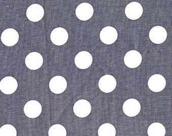 Citron and Gray Quarter Dot Gray for Michael Miller, 1/2 yard