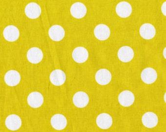 Citron and Gray Quarter Dot Sunny for Michael Miller, 1/2 yard