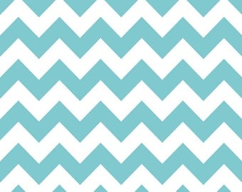 Chevron Aqua for Riley Blake, 1/2 yard
