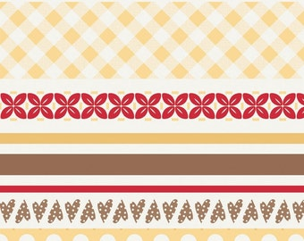 Sew Cherry Yellow Stripes by Lori Holt of Bee in my Bonnet for Riley Blake, 1/2 yard