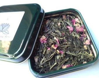 Your Choice of Organic Loose Leaf Sample Sized Tea in a Reusable Tin
