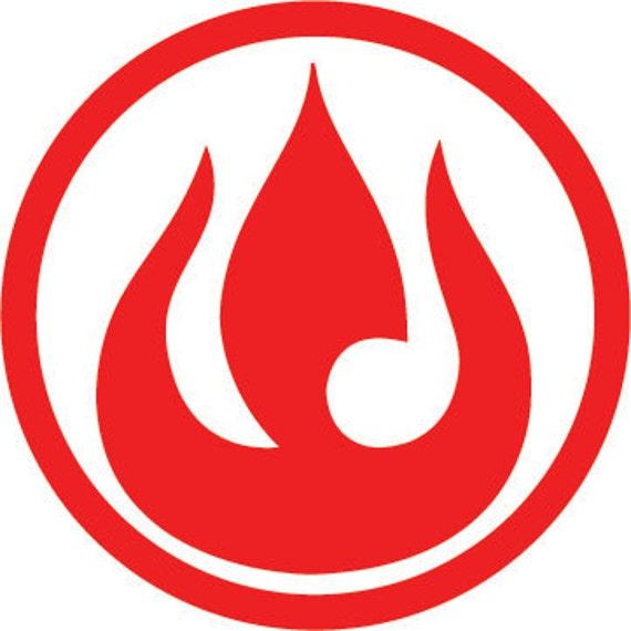 Avatar Logo: 4 Avatar Fire Nation Emblem Vinyl Decal