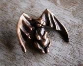 Bat bunny pendant bronze sculpture