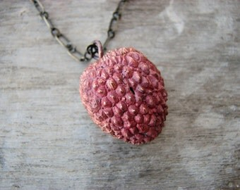 Lychee pendant with chain