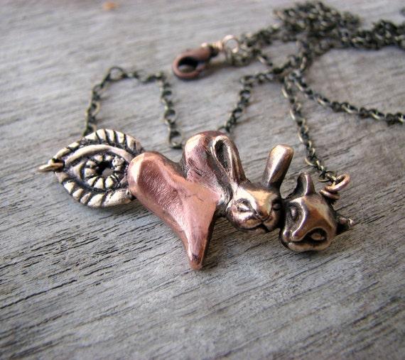 Animal rebus necklace I love animals