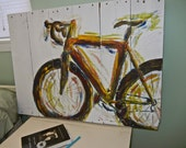 A Bicycle, Pallet Painting
