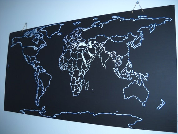Chalkboard Map (world, US, other countries/regions...)