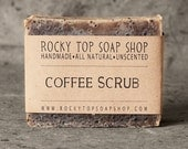 Coffee Scrub Kitchen Soap- All Natural, Handmade Soap, Cold Process Soap, Vegan Soap, Unscented Coffee Soap