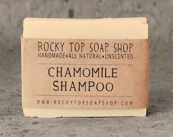 Solid Shampoo Bar with Chamomile Tea - All Natural Soap, Unscented Soap, Handmade Soap, Cold Process Soap, Vegan Soap