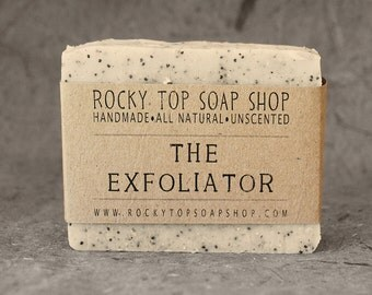 The Exfoliator - Scrub Soap, Exfoliating Soap Bar, All Natural Soap, Handmade Soap, Unscented Soap, Cold Process Soap, Vegan Soap, Mens Soap