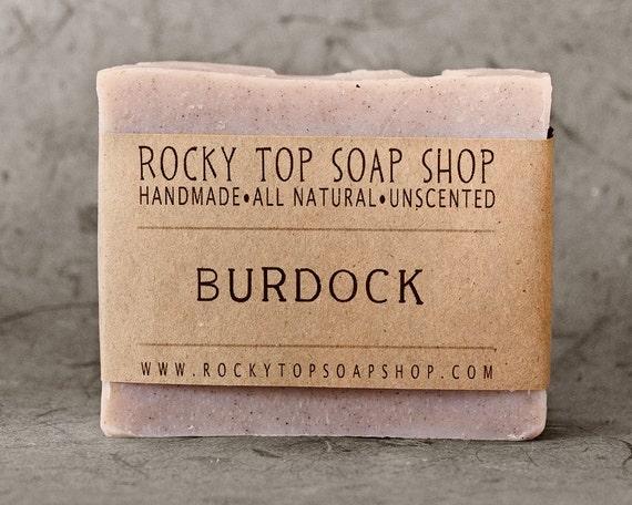 Burdock Root Soap -  All Natural Soap, Handmade Soap, Cold Process Soap, Unscented Soap, Herbal Soap, Vegan Soap