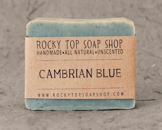 Cambrian Blue Clay - All Natural Soap, Handmade Soap, Unscented Soap, Cold Process Soap, Vegan Soap