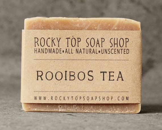Rooibos Red Tea Soap - All Natural Soap, Handmade Soap, Fragrance Free Soap, Vegan Soap