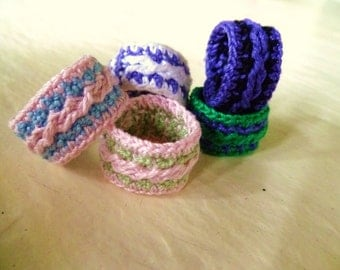Cable Crocheted Ring Size 7