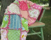 Custom Quilt   Rag Quilt   You Choose Colors and Size