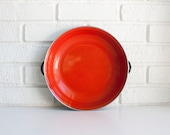 Mid Century Red Enamel Pan