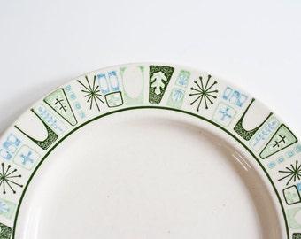 Mid Century Modern Atomic Plates