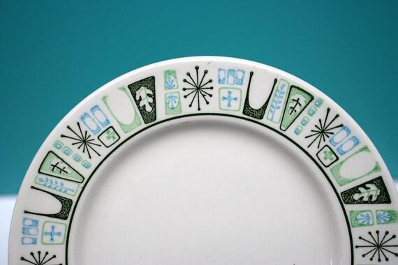Vintage Mid Century Modern Starburst Plates