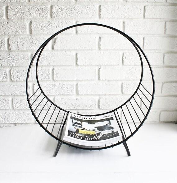 mid century modern magazine rack. Black Bedroom Furniture Sets. Home Design Ideas