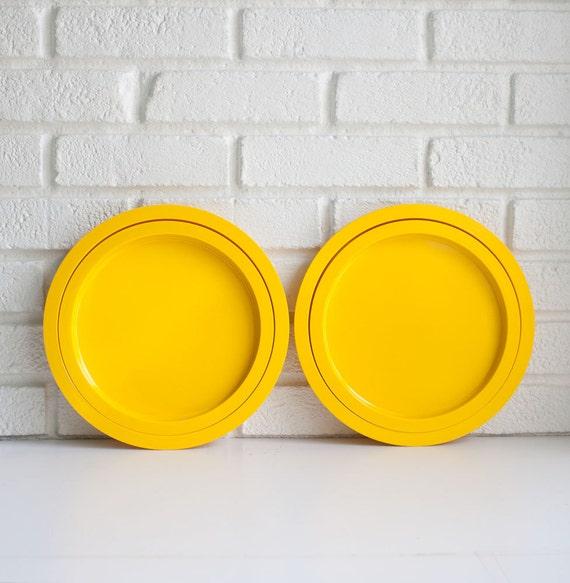 Yellow Dansk Stacking Plates